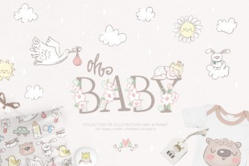 sweet baby collection clipart