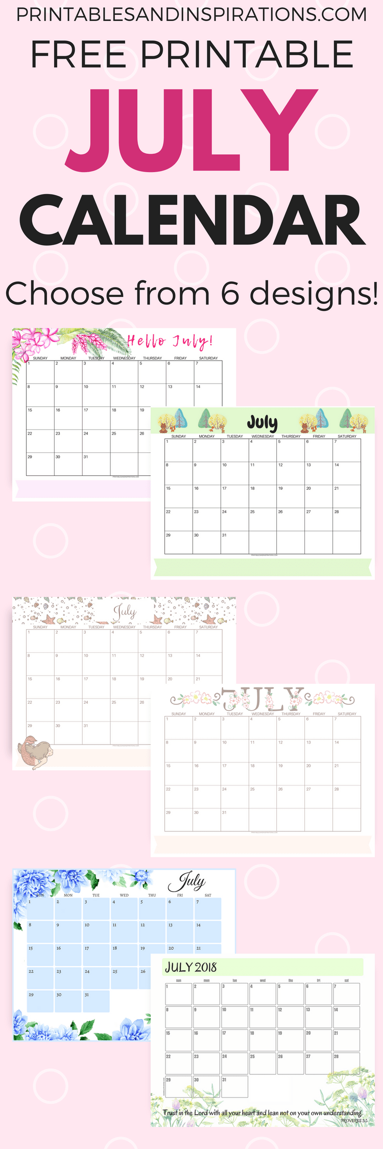 get your free printable july 2018 monthly calendar with monday calendar