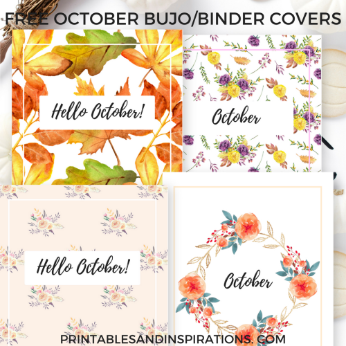 october bullet journal cover ideas printable printables and