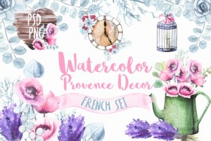Provence watercolor images