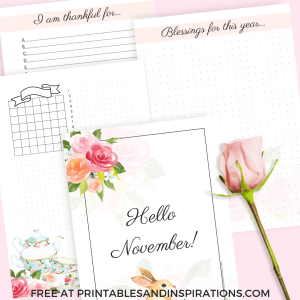 Free Printable Gratitude Bullet Journal Pages for daily thanksgiving. Get your free download now! #grateful #bulletjournal #printableplanner #freeprintable #printablesandinspirations