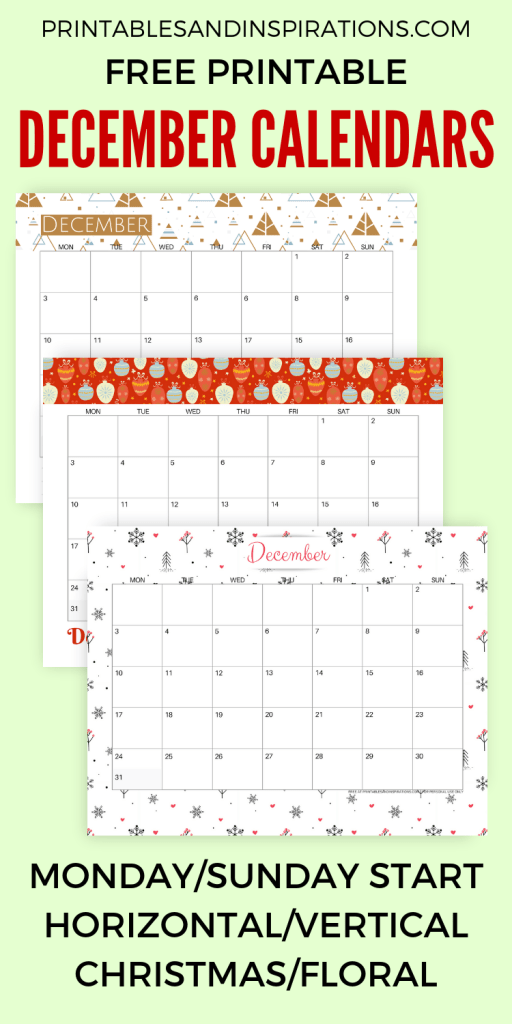 Your December 2018 Calendar Printable Is Here Printables And