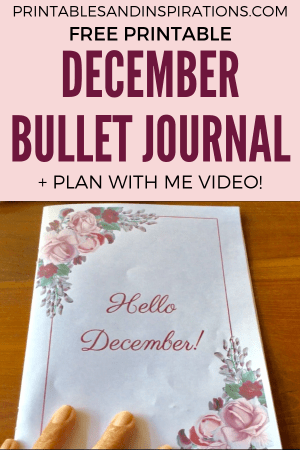 December Plan With Me + Free Planner! Free printable planner with vintage floral design, for A4 or A5 planner size. Free download now and use for any month! #printableplanner #bulletjournal #planwithme #printablesandinspirations