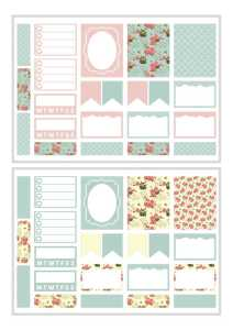 Free Printable Planner Stickers! These may be used as Erin Condren planner stickers or Happy planner stickers! Download now! #freeprintable #plannerstickers #planneraddict #printablesandinspirations