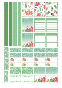 Christmas planner stickers, free printable stickers #Christmas #plannerstickers #freeprintable #printablesandinspirations #planneraddict