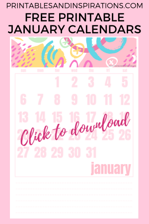 January 2019 Calendar Printable! Get your free printable monthly calendar planner and start planning. Download now! #freeprintable #printablesandinspirations