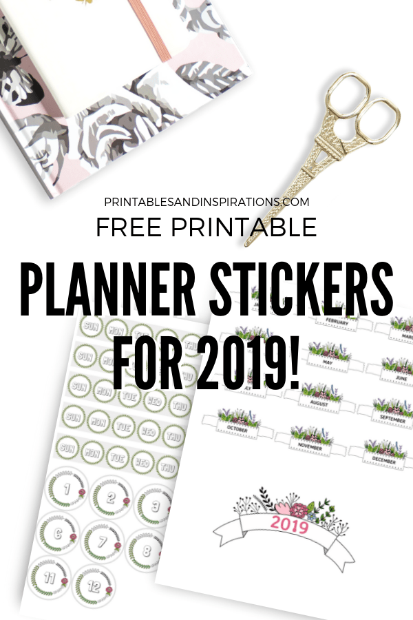 2019 Free Printable Planner Stickers And Calendars ...