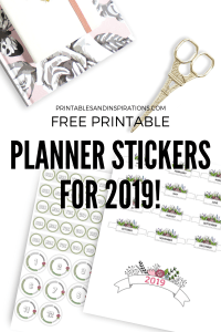 Free Planner Stickers For 2019! Free printable stickers for bullet journal - days of the week, monthly labels and more! Free download now! #freeprintable #plannerstickers #printablesandinspirations #bulletjournal #bujoideas