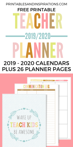 Free Teacher Planner Printable 2019 2020 Printables And Inspirations