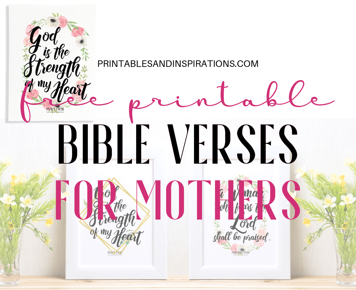 photograph about Free Printable Bible Verses to Frame named Bible Verses Archives - Printables and Inspirations