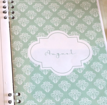 A5 planner inserts, A5 planner printables