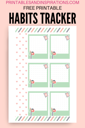 Mood tracker free printable - bullet journal printable template with dot grid #bulletjournal #freeprintable #printablesandinspirations