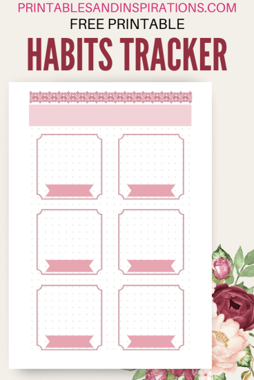 Free printable habits tracker - plus more bullet journal printables. Free PDF download! #freeprintable #printablesandinspirations #planneraddict #bulletjournal #bujoideas #bujoinspiration