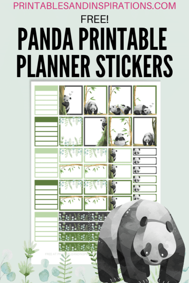 Free Printable Panda Planner STICKERS - printable stickers for Happy Planner, Erin Condren Life Planner, and more, free download #freeprintable #printablesandinspirations #panda #cutepanda #pandalover #bulletjournal #plannerstickers #planneraddict