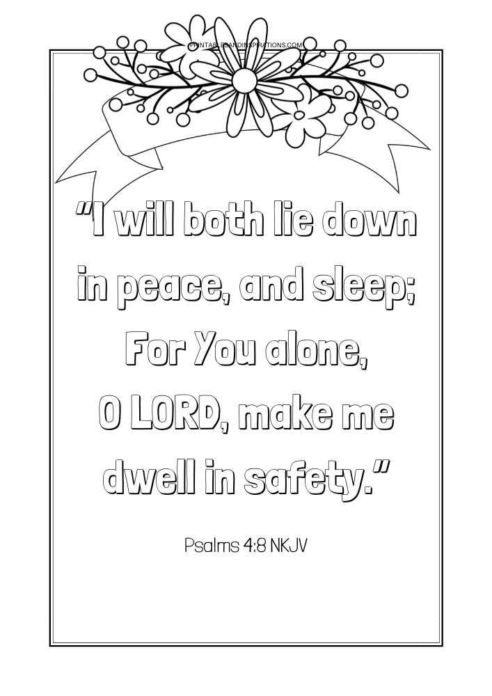 Free Printable Bible Verse Coloring Book Pages - Printables And Inspirations