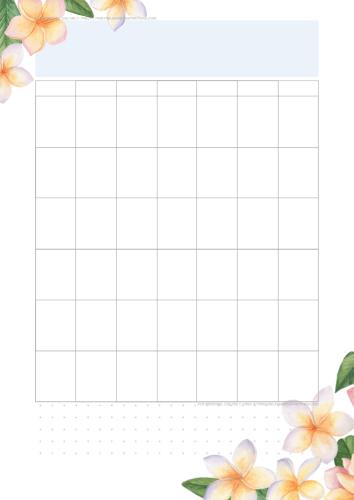 Monthly calendar template - Free printable monthly planner calendar with flowers #freeprintable #bulletjournal #digitalplanner #printablesandinspirations