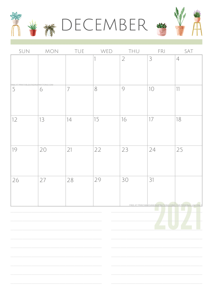 December 2021 planner - green free printable calendar #printablesandinspirations SEE PREVIOUS POST TO DOWNLOAD THE FREE PDF FILE