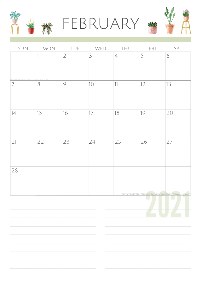 February 2021 planner - green free printable calendar #printablesandinspirations SEE PREVIOUS POST TO DOWNLOAD THE FREE PDF FILE