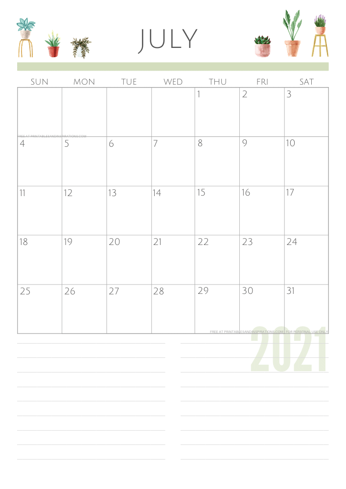 July 2021 planner - green free printable calendar #printablesandinspirations SEE PREVIOUS POST TO DOWNLOAD THE FREE PDF FILE