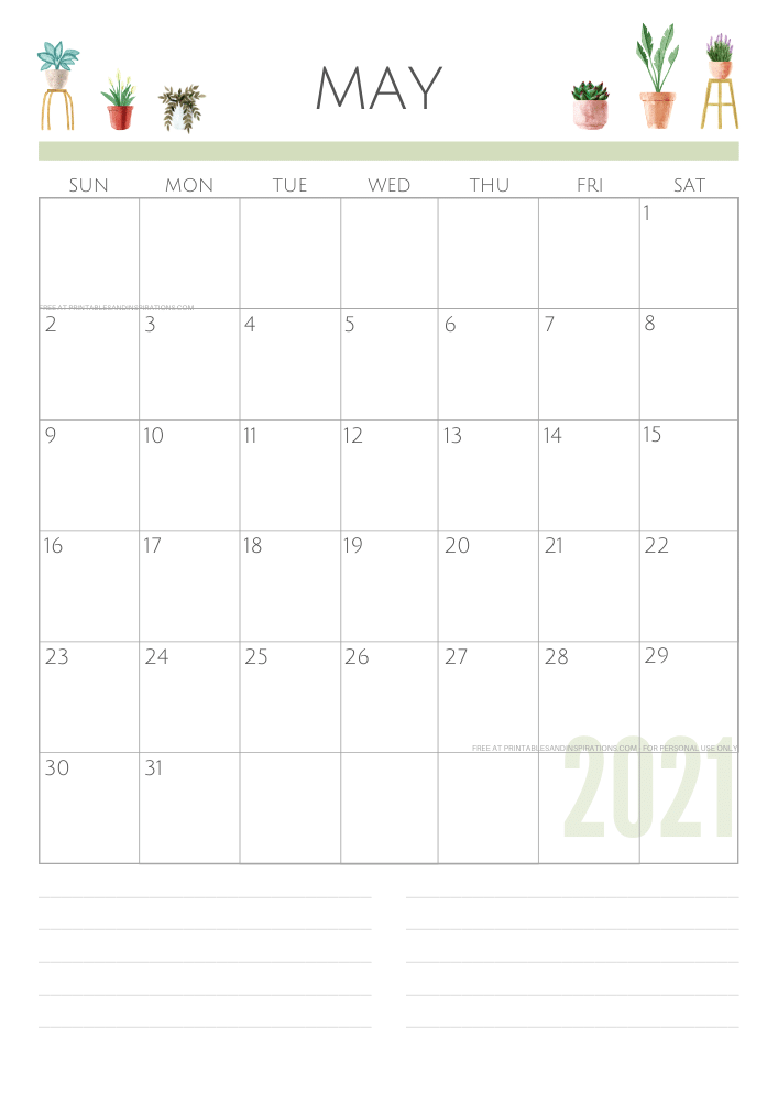 May 2021 planner - green free printable calendar #printablesandinspirations SEE PREVIOUS POST TO DOWNLOAD THE FREE PDF FILE