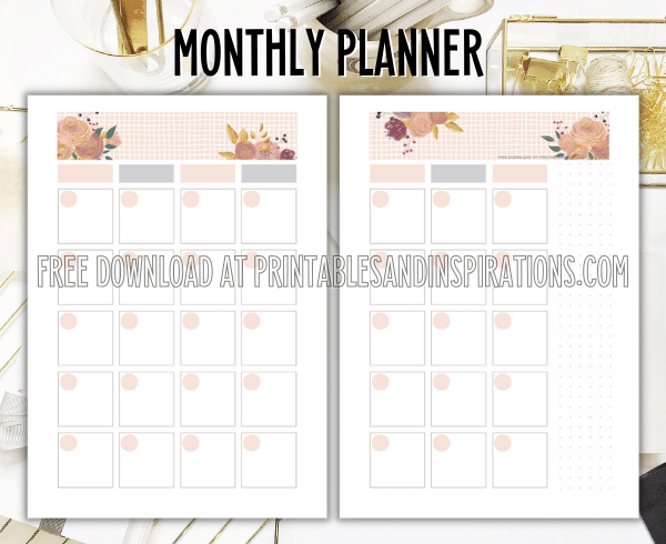 Monthly Planner - Free Printable Boss Lady Planner #printablesandinspirations