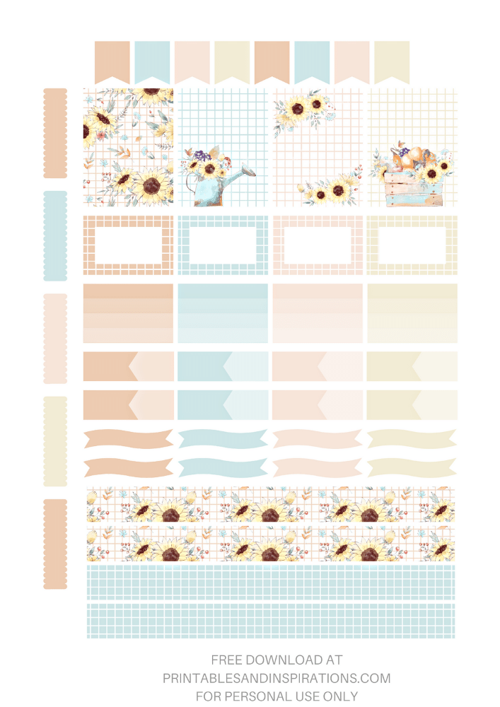 Cute Fall Stickers - autumn themed planner stickers for bullet journal + links to fall clipart #freeprintable #printablesandinspirations - SEE PREVIOUS POST TO DOWNLOAD 3 STICKER SHEETS AND FREE PRINTABLE PLANNER