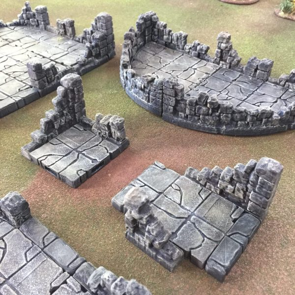 Rampage Ruin Walls Printable Scenery - Year of Clean Water