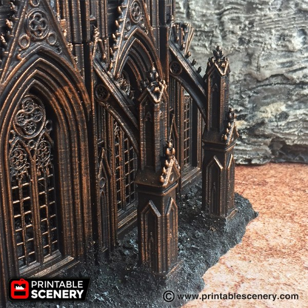 Cathedral Flying Buttress Printable Scenery - Exploring Mars