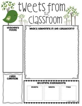 Template For Classroom Newsletter