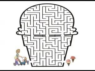 Ice Cream Cone Printable Maze