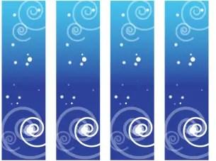 Printable Blue Swirl Bookmarks