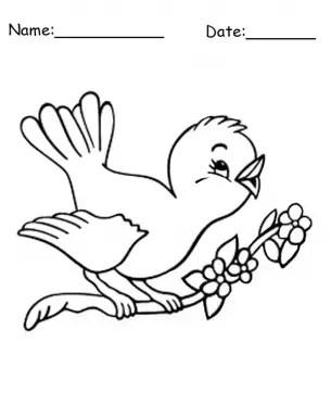 Printable Birdie Coloring Pages