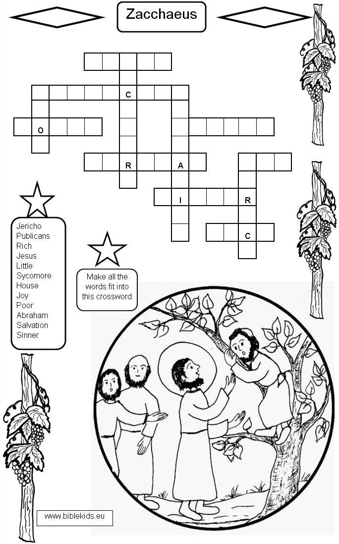 zacchaeus craft printable