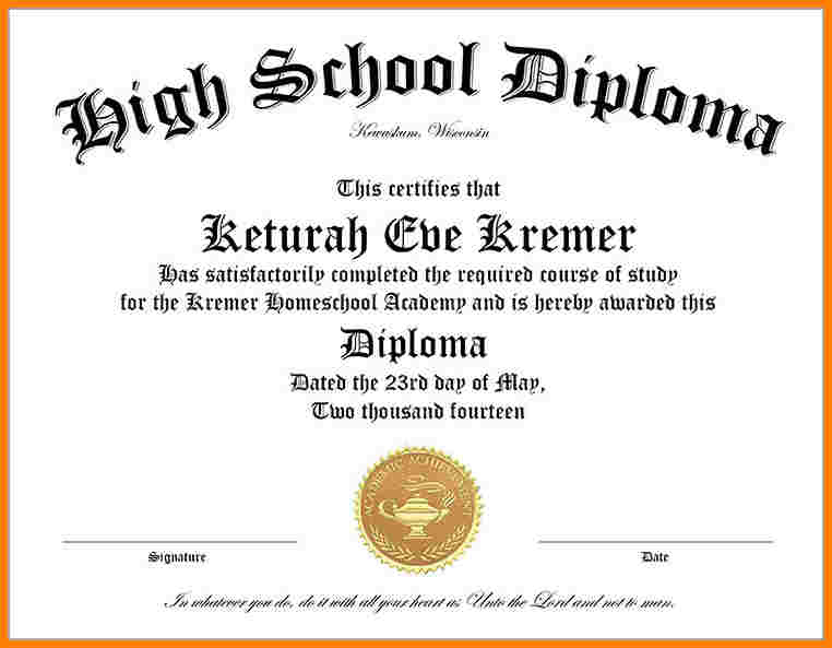 photo about Printable Homeschool Diploma known as 35+ Substantial University Degree Template Down load Cost-free!!!