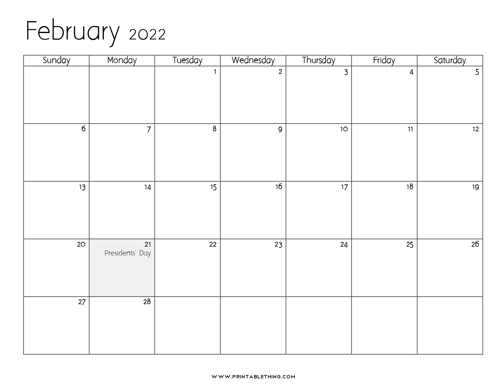 Remembering bill due dates is easy with a system for noting what needs to be paid and whether you've done with these free printable bill calendars. 20+ February 2022 Calendar | Printable, PDF, US Holidays ...