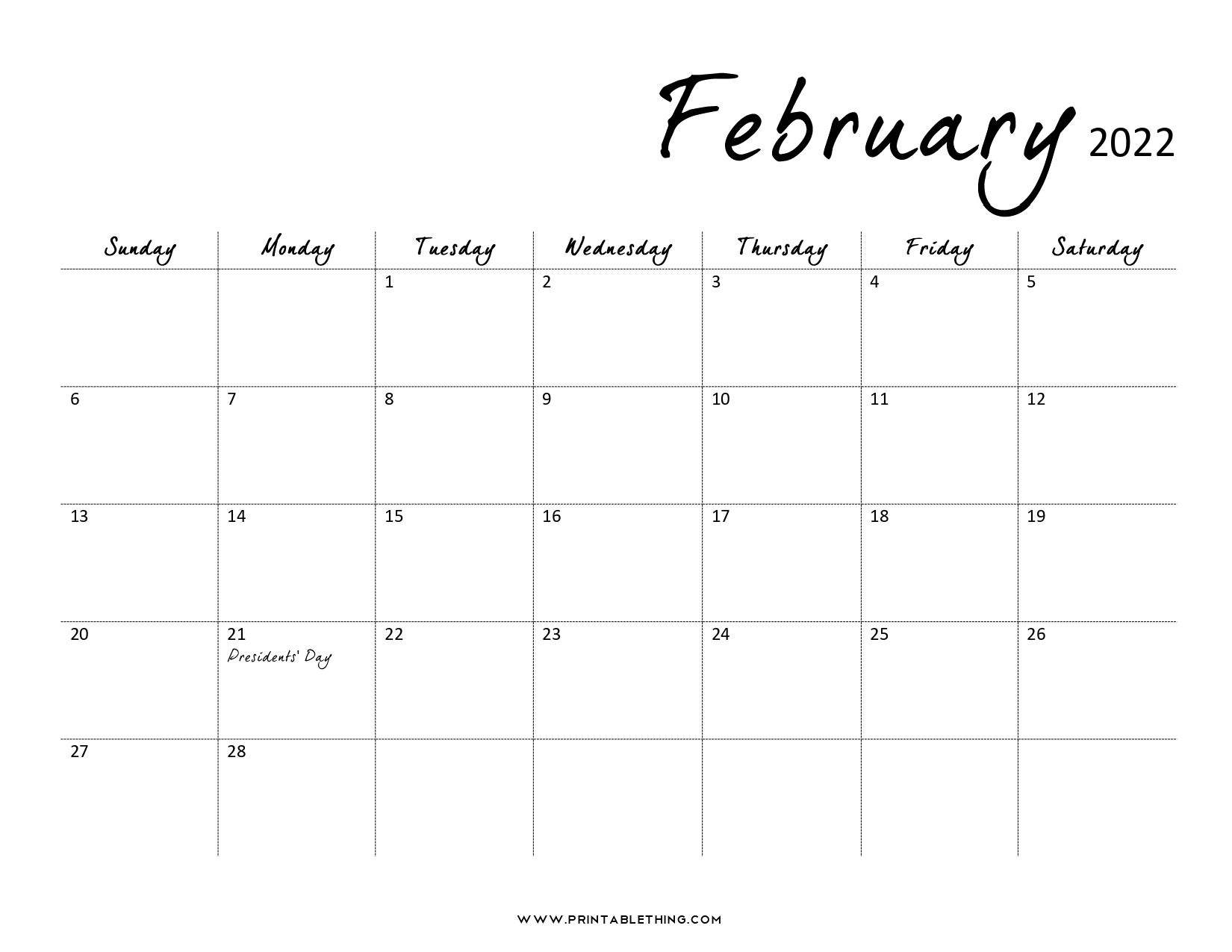 Remembering to pay your bills each month isn't always easy, especially when your bills are d. 20+ February 2022 Calendar | Printable, PDF, US Holidays ...