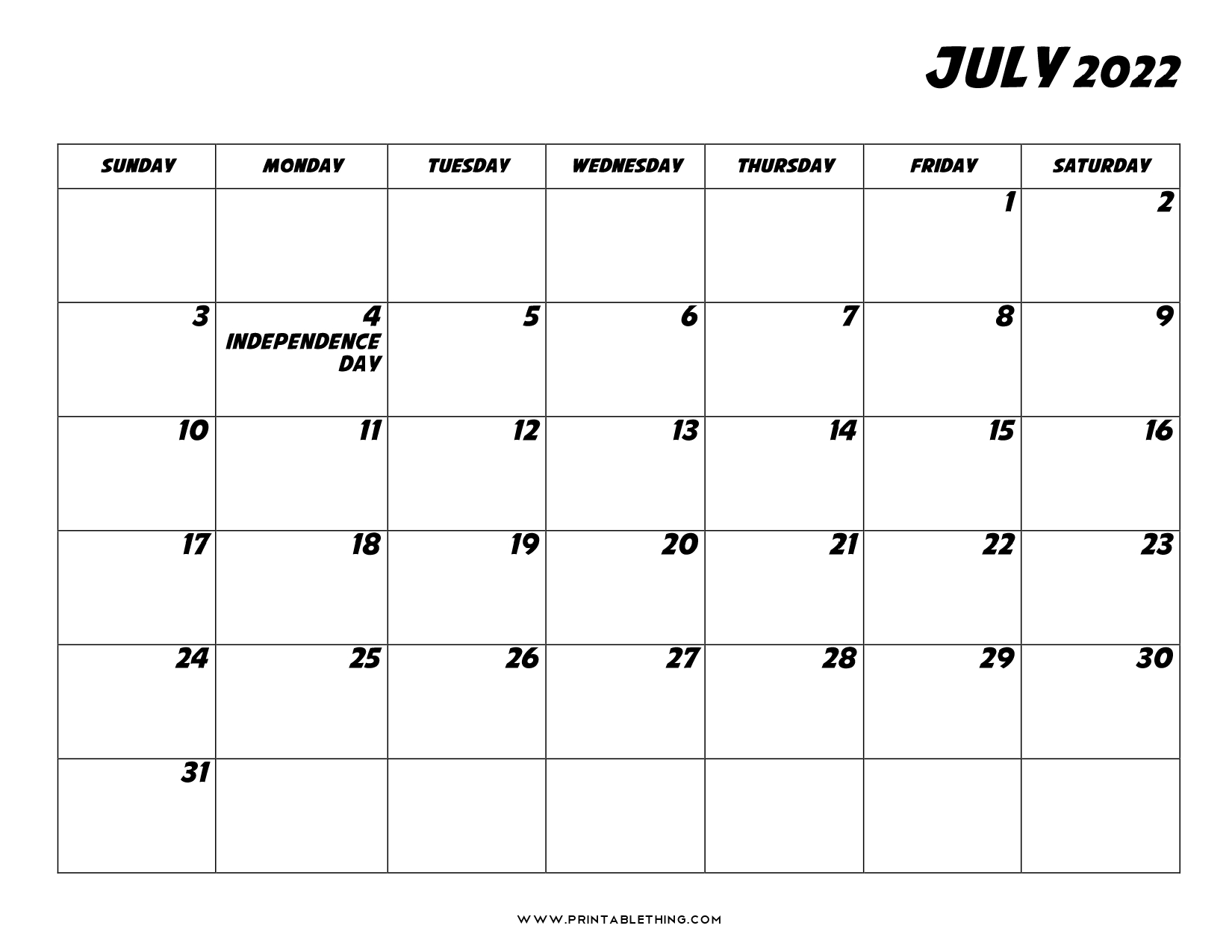 20+ July 2022 Calendar | Printable, PDF, US Holidays ...