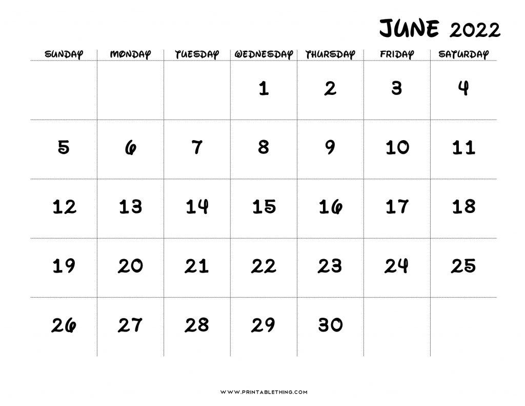 19+ June 2022 Calendar | Printable PDF, US Holidays, Blank ...
