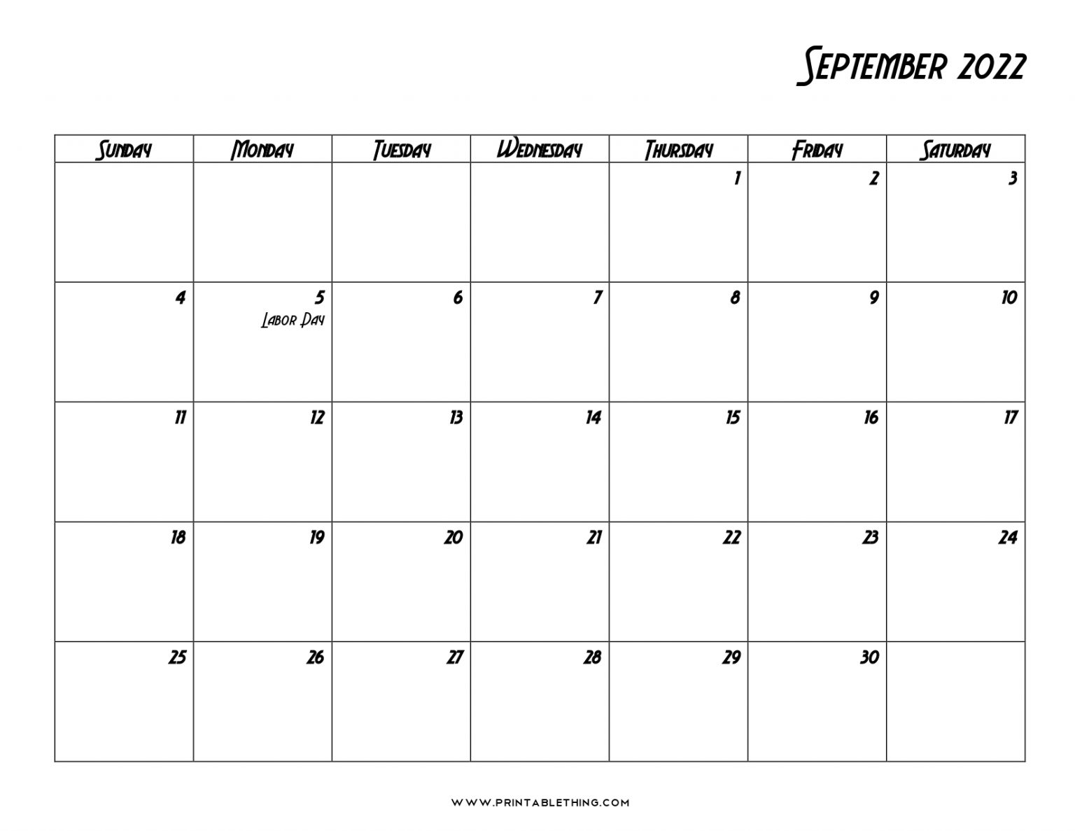 20+ September 2022 Calendar   Printable, PDF, US Holidays ...