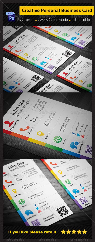 Social Media Business Card  Print Ad Templates