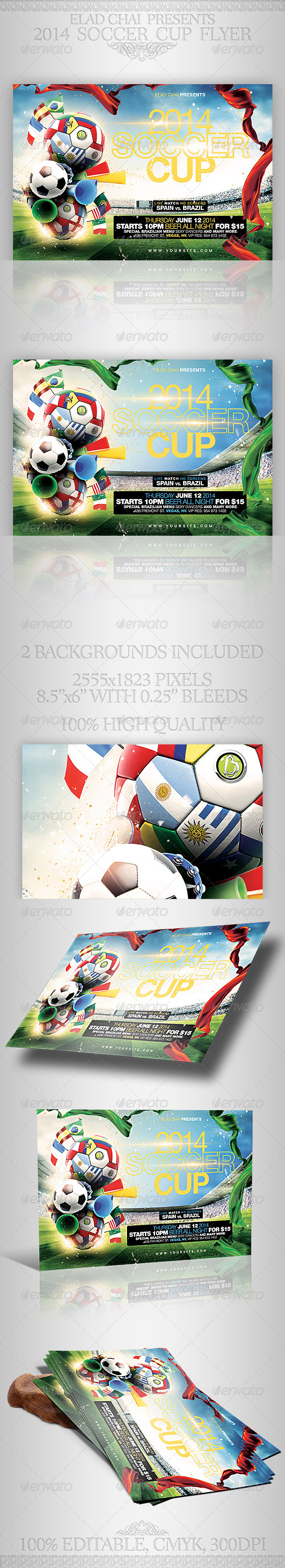 2014 Soccer Football Cup Flyer Template