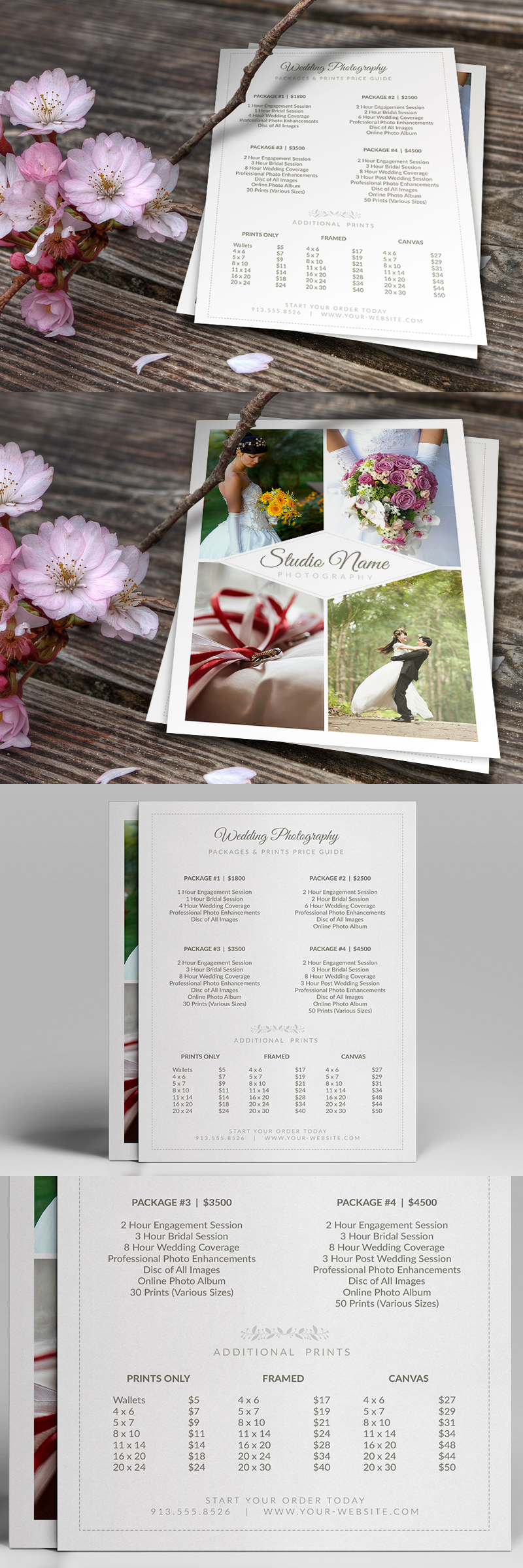 Wedding Photographer Pricing Guide / Price Sheet List 5x7 v2 ...