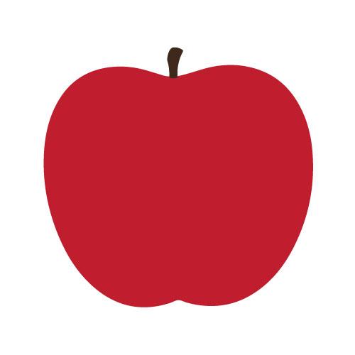red apple print square