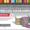 Benjamin moore free color sample