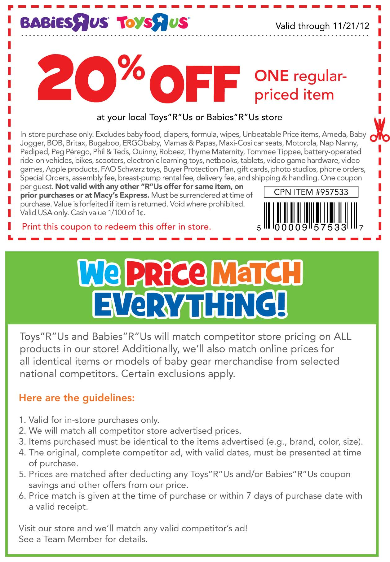 Toys R Us Coupon 20 Off One Item : coupon, Babies, Coupons, Codes, Gallery