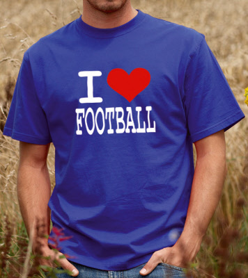 I Love Football  Unisex Tshirt