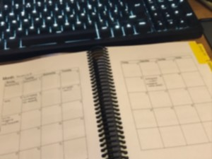 networking planner - month view - blurred