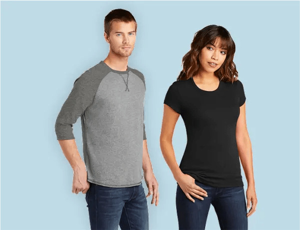 men's and ladies t-shirts and apparel