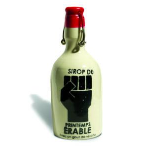 Une bouteille de Syrop du Printemps érable de Hugo Didier, Juin 2012.