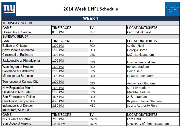 printable weekly nfl schedule - April.onthemarch.co